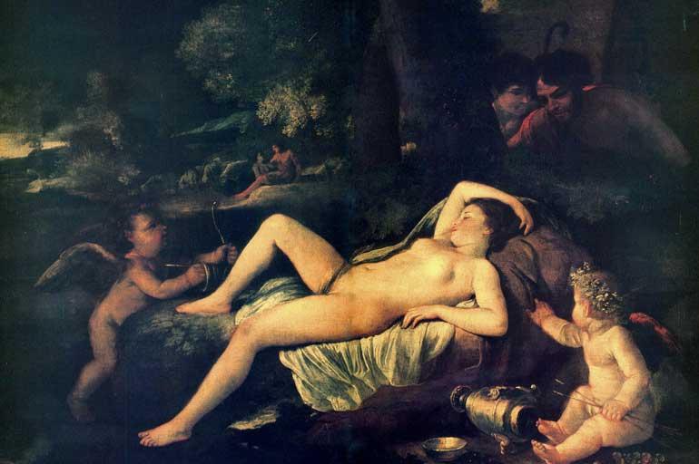 Vénus endormie et l'Amour, 1630-33